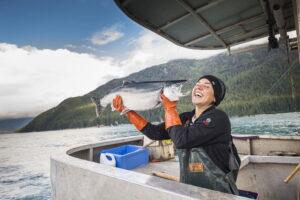 pesca sostenible Alaska seafood