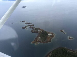 Vistas aéreas de las Islas Noyes