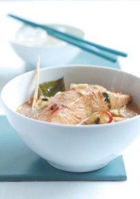 Curry rojo tailandés con Salmón Salvaje de Alaska