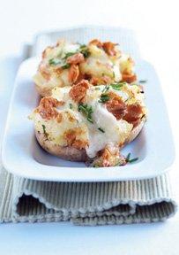 Patatas rellena con Mozzarella y Salmón Salvaje de Alaska